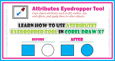 How to use Attributes Eyedropper Tool in Corel Draw x7 Through Urdu Tutorial