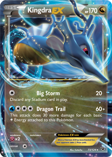 Kingdra EX Fates Collide Pokemon Card