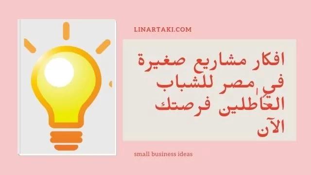 افكار مشاريع صغيرة في مصر للشباب العااطلين فرصتك الآن