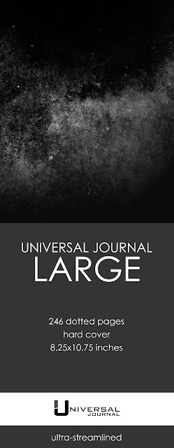 Universal Journal bullet journal notebook dotted pages hard cover