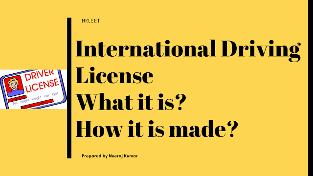 International driving license-How it is made? How much it costs?