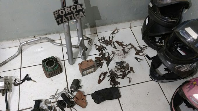 CAXIAS: Desmanche, grampos 'fura pneu' e prisão de dois suspeitos é efetuada pela FT no Descanso