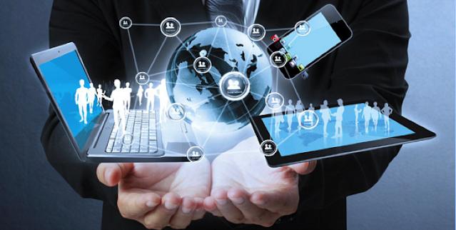 Ilustrasi Penggunaan Aplikasi Pada Bisnis, sumber Global Business Outlook