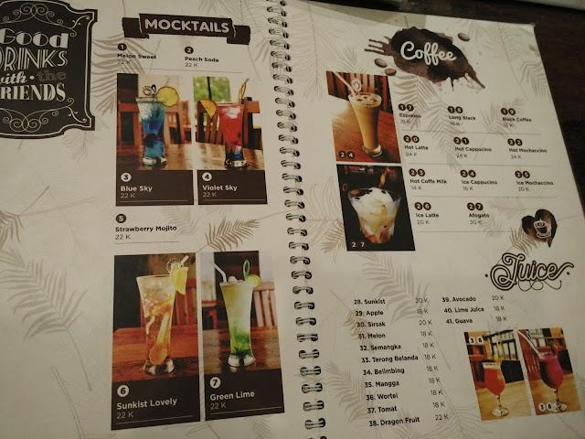 menu makanan dan minuman