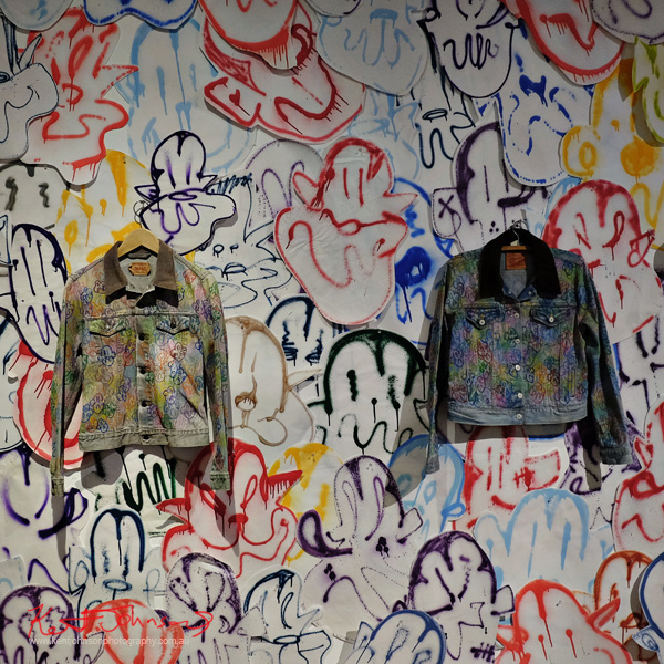 Artified denim jackets, Tyrannium by Dionysos Anton Street Fashion Sydney - Photography by Kent Johnson.