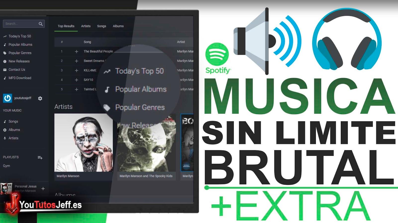 Disfruta de Música Gratis sin Limite - Alternativa Spotify?