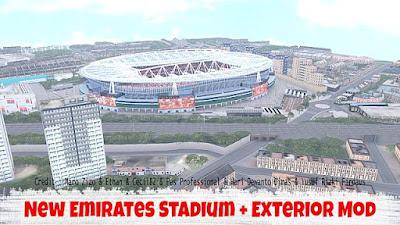 NEW Emirates Stadium + Exterior PES 2017