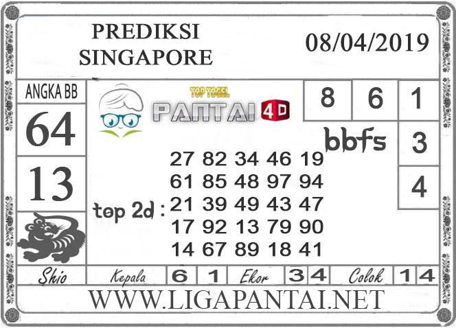 """Prediksi Togel """"SINGAPORE"""" PANTAI4D 08 APRIL 2019"""