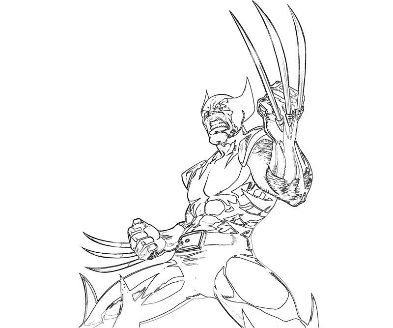 #19 Wolverine Coloring Page
