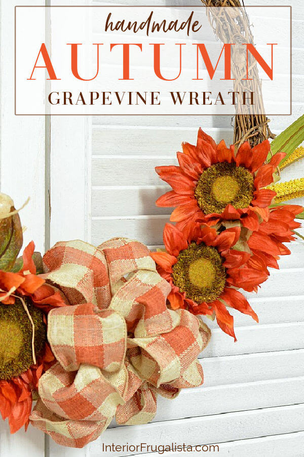 Handmade Autumn Grapevine Wreath