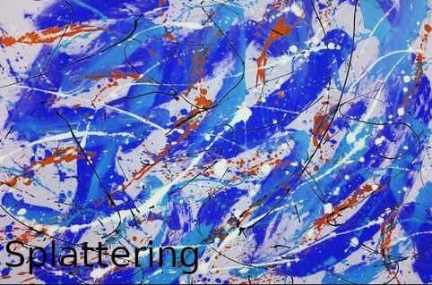 multi color paints splattered on white canvas