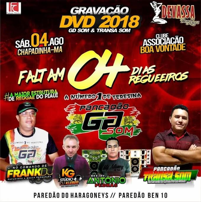 Pancadão GDsom grava DVD oficial 2018, Neste sábado (04), na associação Boa Vontade em Chapadinha.