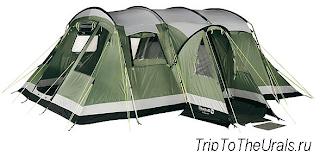 Пример кемпинговой палатки полубочки