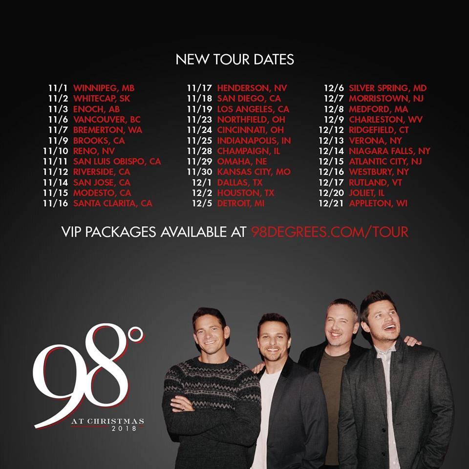 98 degrees at christmas tour 2018 tour dates - 98 Degrees Christmas