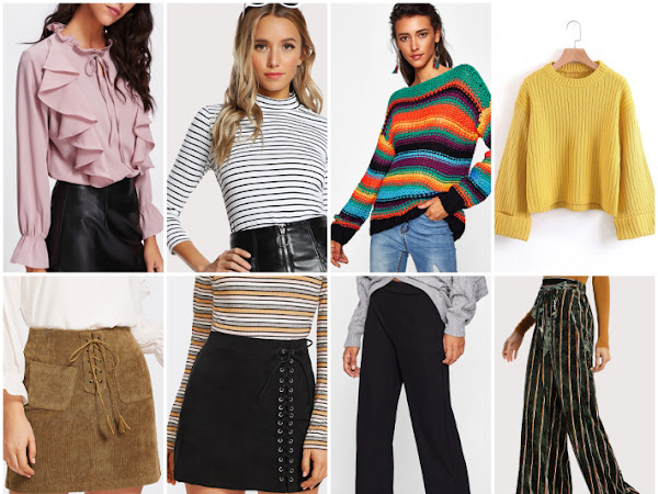 Wishlist: rainbow stripes and lace up skirts