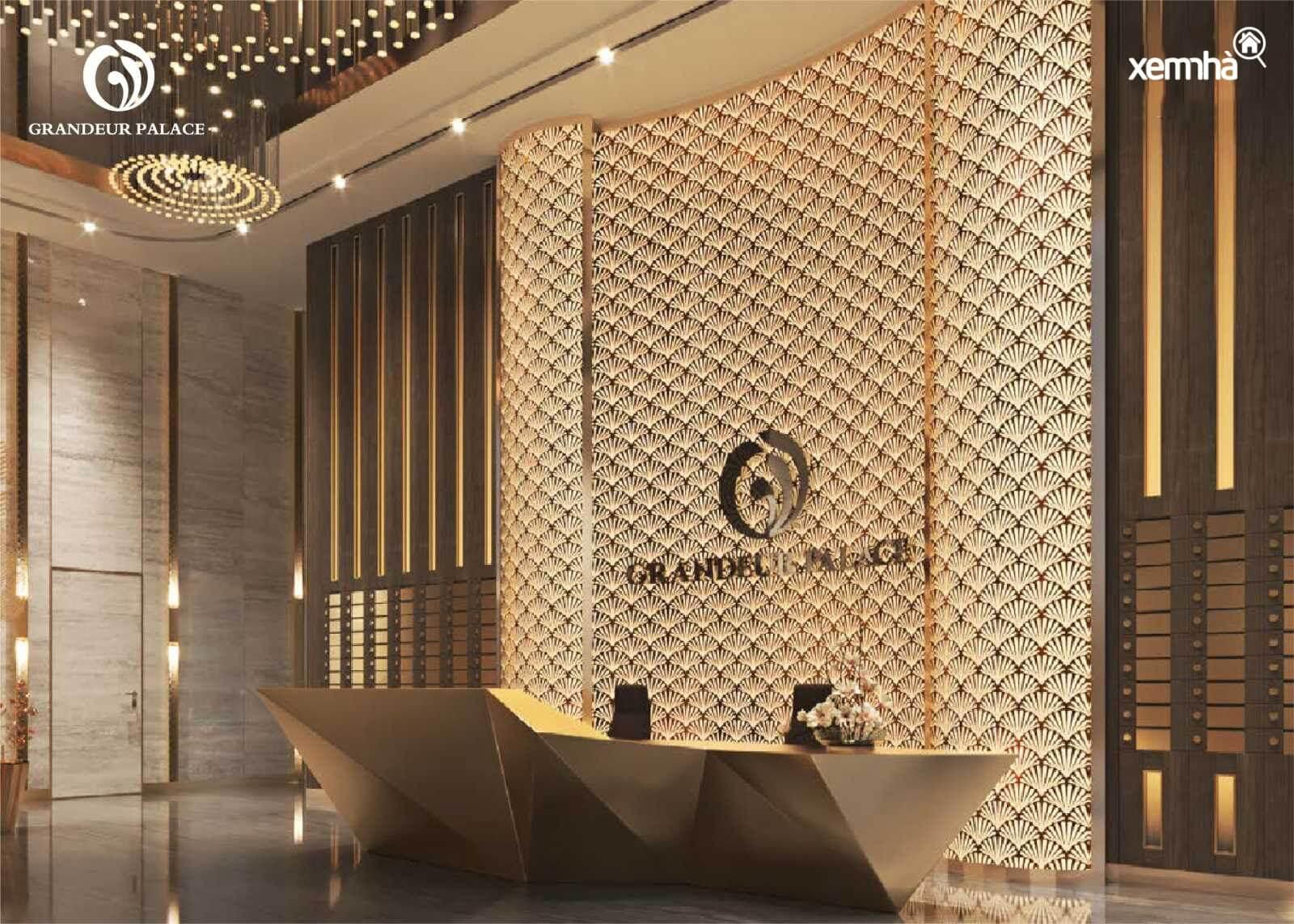 Sảnh đón tiếp đẳng cấp dự án Grandeur Palace Giảng Võ