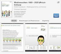 "Screenshot des K2020 Impulsbuchs ""Medienwolken 1960 – 2020"" im iBookstore"