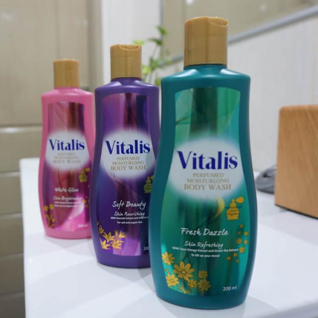mencari ide menulis, vitalis perfumed body wash