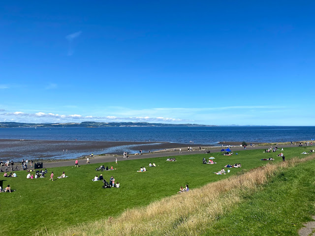 Silverknowes Beach on the Firth of Forth, at the end of one of the Cycle Network paths in Edinburgh, Scotland