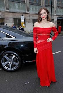 Katharine McPhee in Red Long Dress