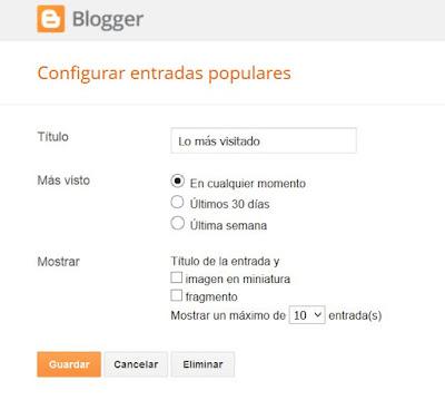 Configurar gadget + visto