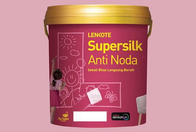 avian cat tembok supersilk anti noda