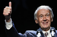 Senator-elect Ed Markey gives a thumbs-up while speaking at the Massachusetts state Democratic Convention in Lowell, Mass., in this July 13, 2013 file photo. (Credit: AP Photo/Michael Dwyer) Click to Enlarge.