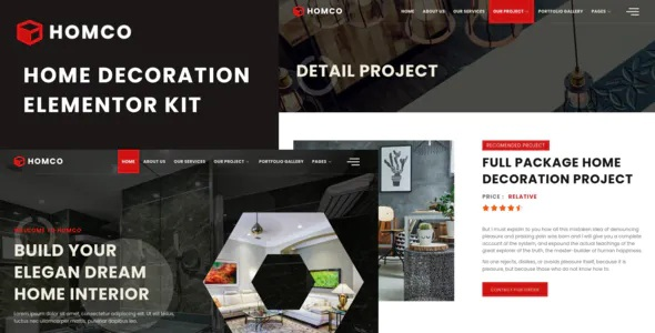 Best Home Interior Design Services Elementor Template Kit
