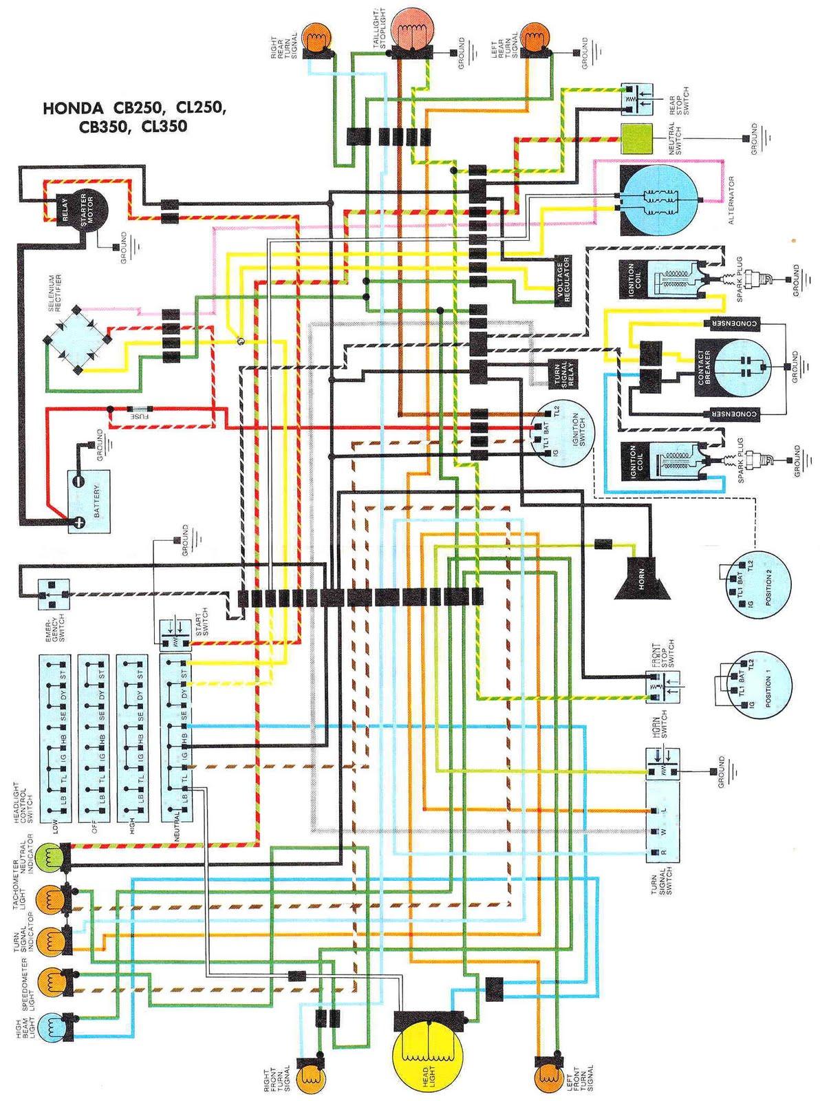 on Honda Cb350 Wiring Diagram