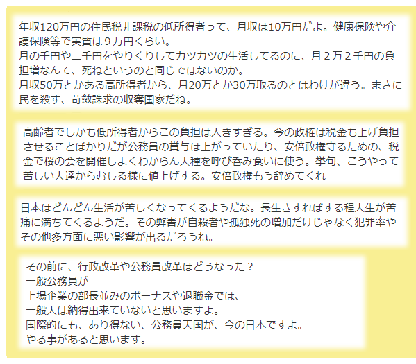 月額2万2千円負担増
