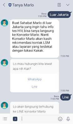 Tanya Marlo merupakan contoh chatbot yang dikelola oleh Botika
