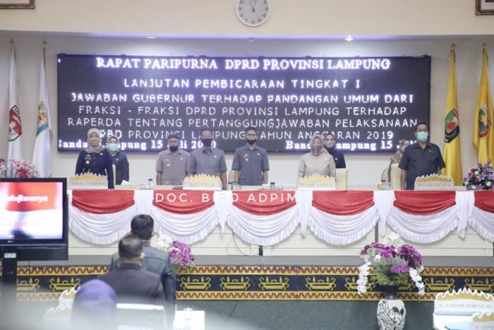 Rapat Paripurna Lanjutan Pembicaraan Tingkat I DPRD Provinsi Lampung