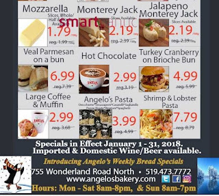 Angelo's Italian Bakery Weekly Flyer January 18 – 24, 2018