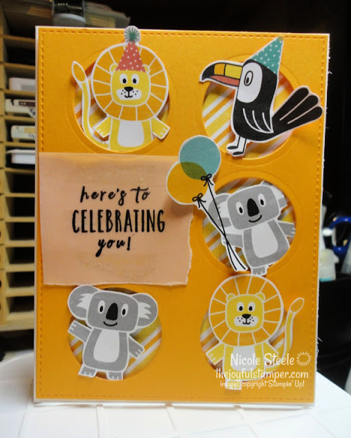 kids birthday card | birthday bonanza | perennial birthday | stampin' up! | animal card | Nicole Steele The Joyful Stamper