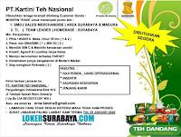 Info Loker Sidoarjo di PT. Kartini Teh Nasional Desember 2019