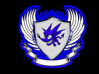 Logo Polos Perisai Bersayap warna biru