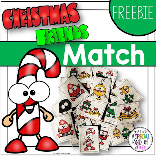 Christmas visual discrimination freebie for pre-school