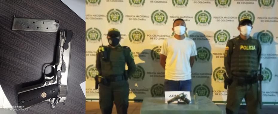 hoyennoticia.com, Le quitaron la pistola con la que hacía disparos al aire