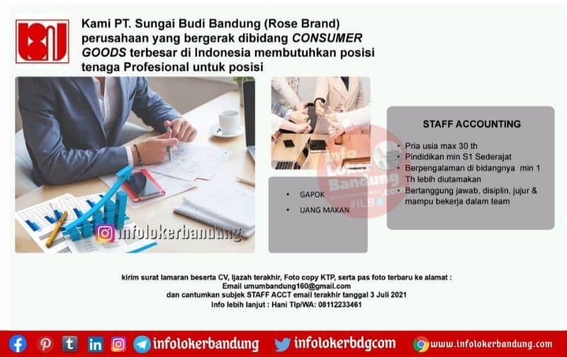 Lowongan Kerja PT. Sungai Budi Bandung ( Rose Brand ) Juli 2021