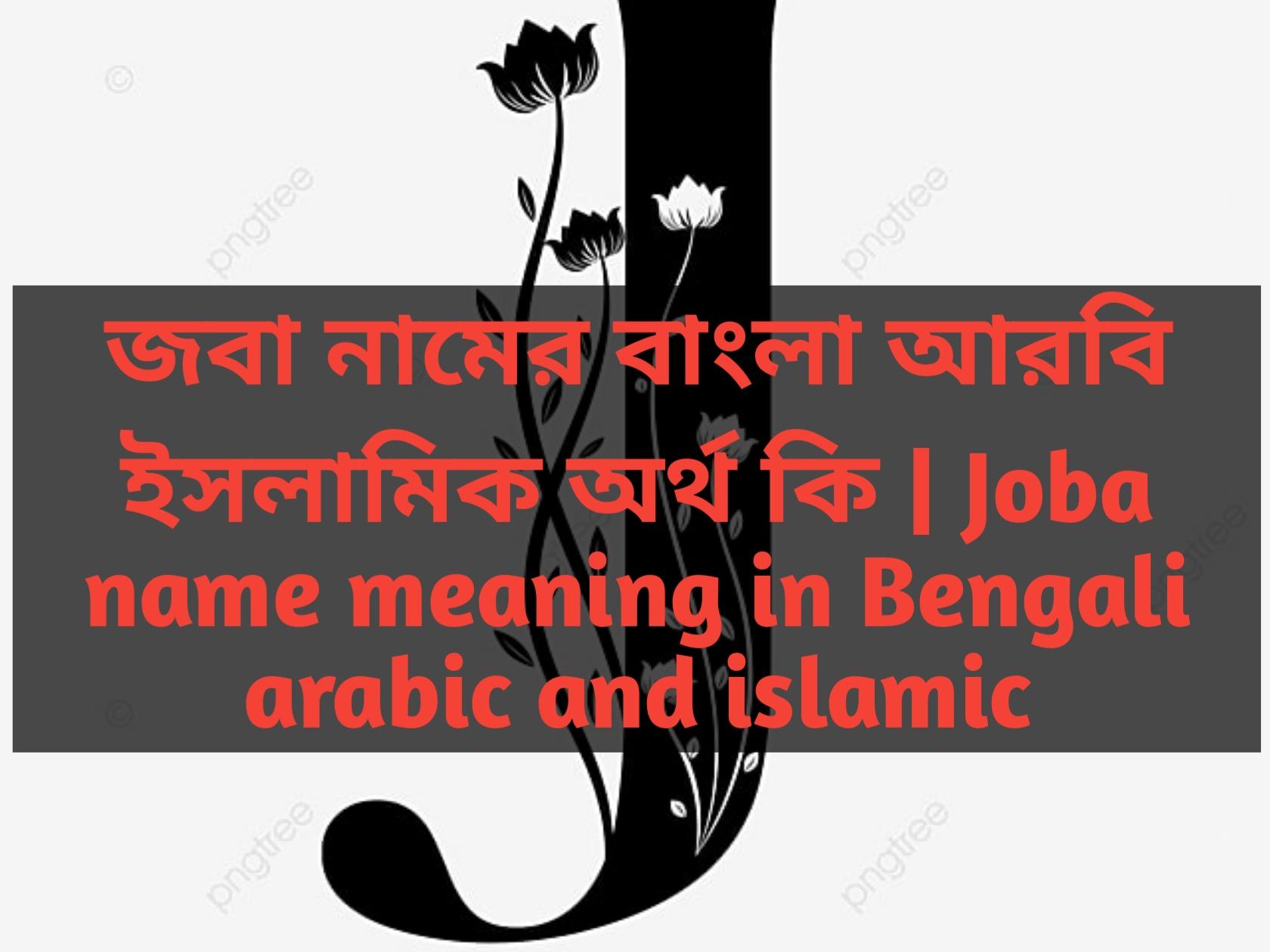 Joba name meaning in Bengali, জবা নামের অর্থ কি, জবা নামের বাংলা অর্থ কি, জবা নামের ইসলামিক অর্থ কি,
