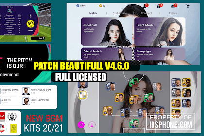 UPDATE PATCH BEATUFULL GIRL PES 2020 MOBILE BY IDSPHONE V4.6.0