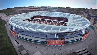 PES 2017 Stadium Emirates & Anfield with Exterior View