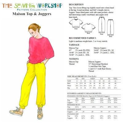 Creates Sew Slow: How I do love thee The Sewing Workshop Maison top