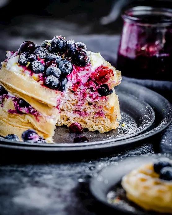 Keto Blueberry waffles
