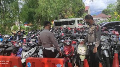Himbau Warga Ambil Kendaraan, Satlantas Polres Padang Pariaman Akan Musnahkan Barang Bukti Pelanggaran