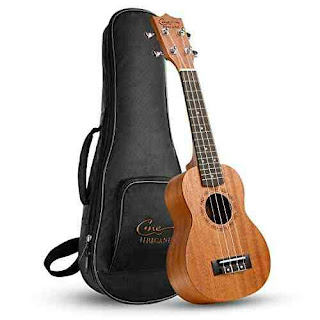 Portable Ukulele Mahogany Guitar with Bag - Musical Instruments