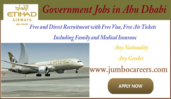 Abu Dhabi government jobs for expats, Airport job vacancies in Abu Dhabi,
