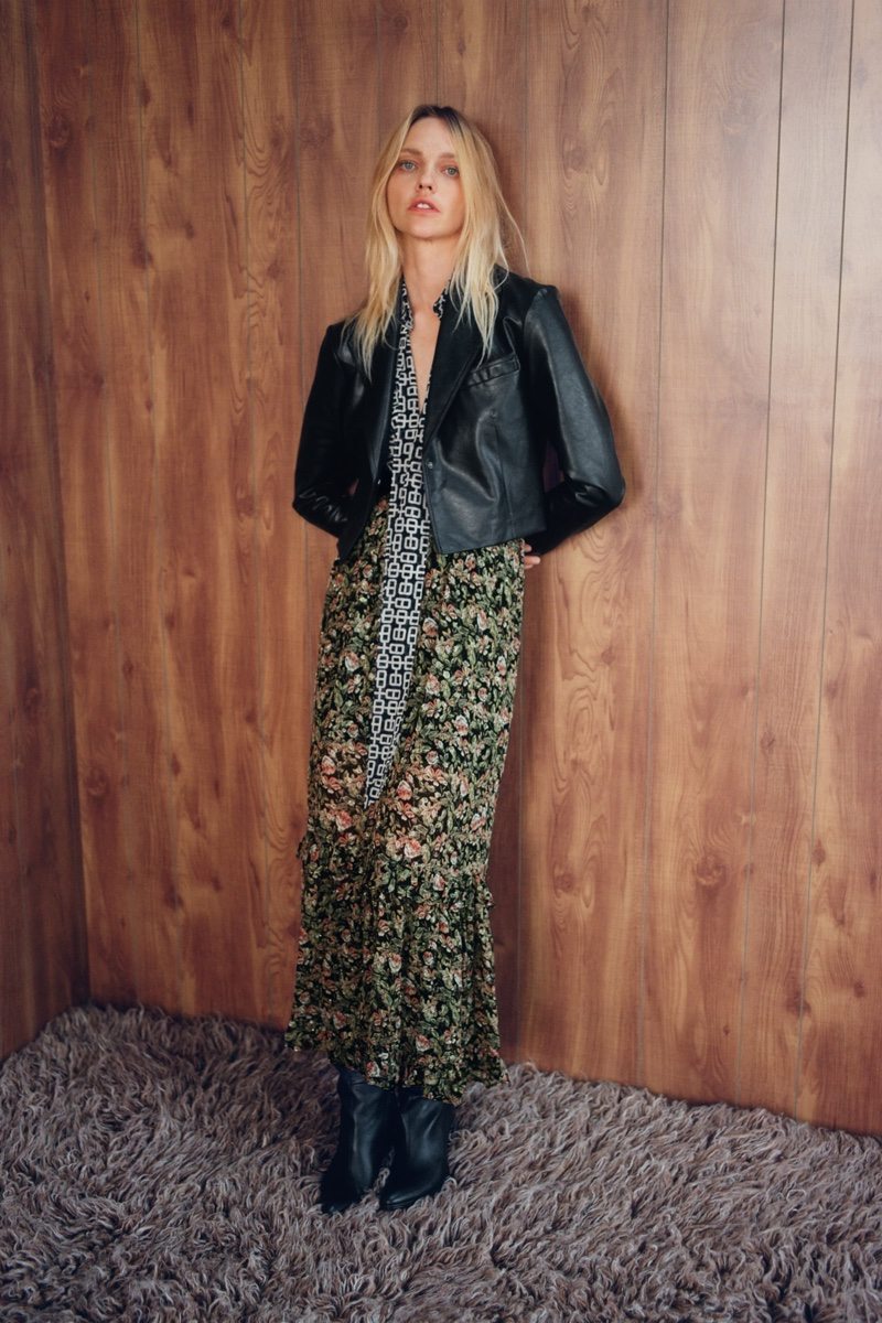 Zara Fall/Winter 2020 Lookbook featuring Sasha Pivovarova