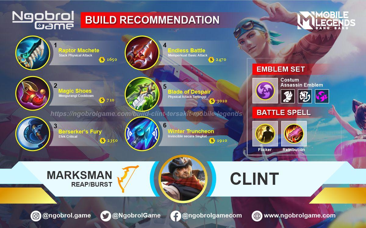Build Clint  Tersakit 2021 Mobile Legends