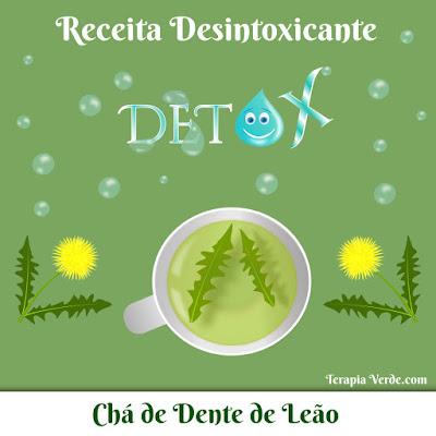 Receita Desintoxicante: Chá de Dente-de-leão
